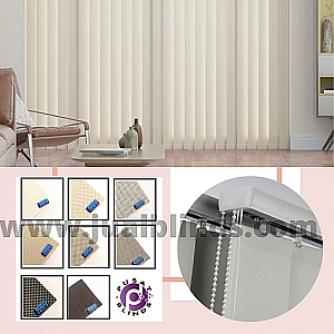 Vertical Blind Onna Blue Solar Screen 10,